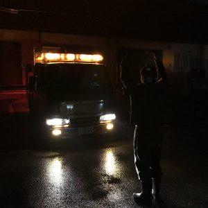 国土第一警備保障 POWER'S'須崎 夜間警備へ出動!